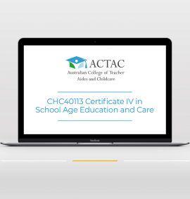 CHC40113 Certificate IV in School Age Education and Care - entry OSHC course